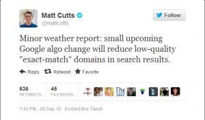 matt cutts tweet
