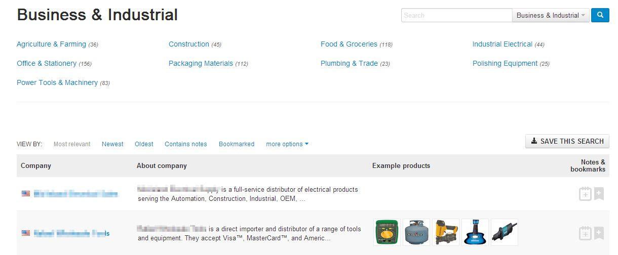 directory subcategories